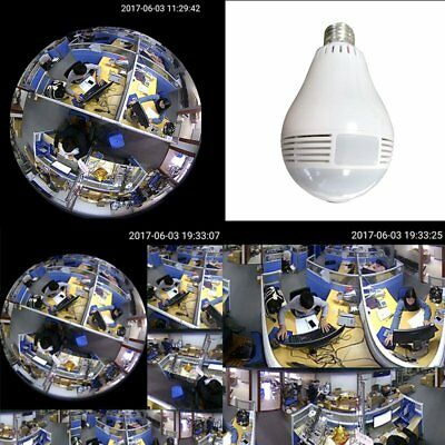 360° WiFi Wireless IP Hidden Spy Pinhole Camera Video Recorder DVR DV Bulb Light