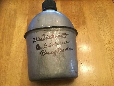 Wild Bill Guarnere Band Of Brothers Signed Ww2 Style Canteen Psa/dna Autograph