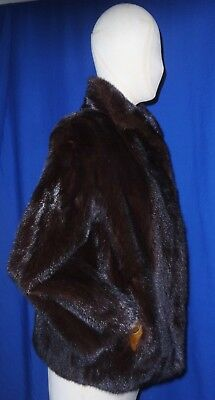 """Good Quality 26"""" Long Canadian Ranch Mink Jacket-UK size 8~10 Mint Condition.."""