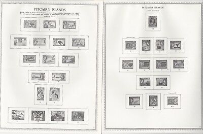 Pitcairn Islands 1940 to 1987 Minkus One-Sided Specialty Pages, 26 Pages