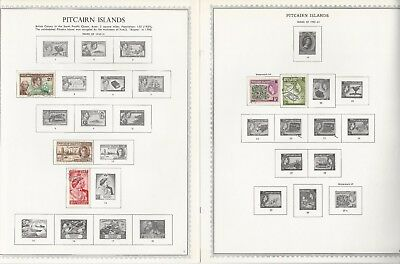 Pitcairn Islands Collection 1940 to 1972 on 8 Minkus One-Sided Specialty Pages