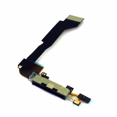 New Black Dock connector for iPhone 4s 4gs A1387 Charging Port Flex Cable OEM US