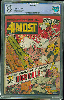 4 Most #1 CBCS 5.5 conserved World War II cover origin of the Target Winter 1942