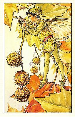 Flower Faires Postcard Cicley Mary Barker The Plane Tree Fairy Lot1