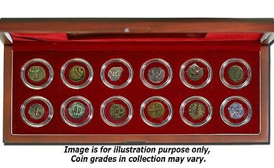 Set of 12 Ancient Bronze Coins From The Jewish Holy Land 2000+ years old
