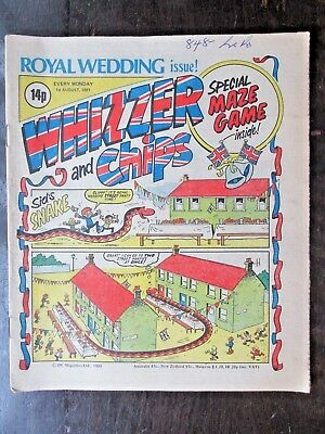 WHIZZER AND CHIPS COMIC. ROYAL WEDDING ISSUE! 1981. 1st AUGUST.