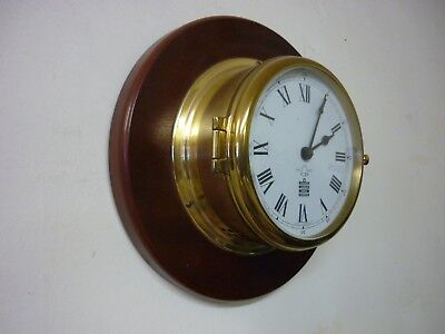 Excellent Sewills of Liverpool Ships Bells Clock Brass and mahogany