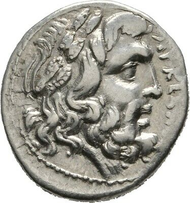 Lanz Epeiros Federal Coinage Drachm Zeus Eagle Wreath Greek Silver §cct2533