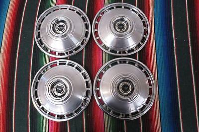 """Original 1960's Chevy Chevrolet Corvair Monza 13""""INCH Hubcaps Wheel Covers"""