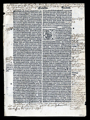 Old Testament 1519 Latin Bible Leaf  Genesis 50 The Death of Joseph's Father