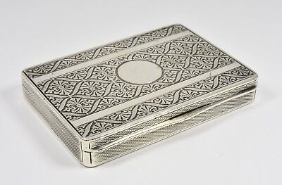 Antique Austrian Solid Silver Card Case, c1910