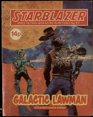 Galactic Lawman,starblazer Space Fiction Adventure In Pictures,no.57,1981