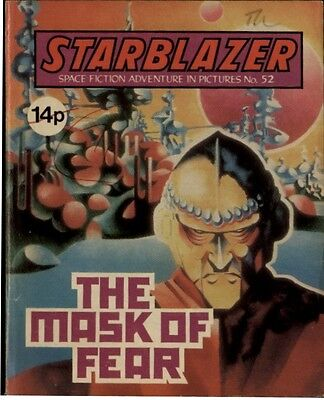 The Mask Of Fear,starblazer Space Fiction Adventure In Pictures,no.52,1981