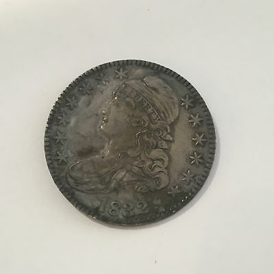 1832 Half Dollar 50c Silver U.S. Rare Coin Small Letters Capped Bust