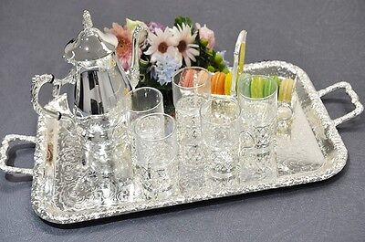 Queen Anne Silver Plated Medium Oblong Tray-Handles- CHRISTMAS GIFT