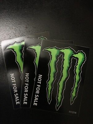"""Monster Energy Drink DECAL STICKER """"4 1/4 Inches x 3 inches"""" 3 For $2.75"""