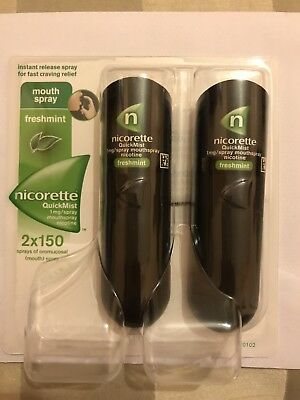 Nicorette Quickmist Duo-1mg/spray-Fresh Mint-2x150-nicotine Craving Relief