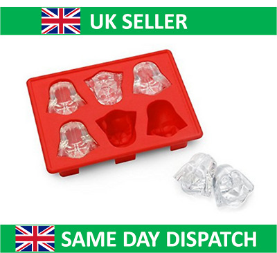 UK Seller Star Wars Darth Vadar Mould Silicone Ice Cube Tray Jelly Cake Whisky