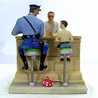 """Rare Norman Rockwell """"The Runaway"""" Figurine Limited Edition Porcelain Figurine"""