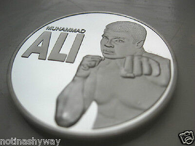 Muhammad Ali Silver Coin Boxing Punching Sports man of the Century RIP Hero U C