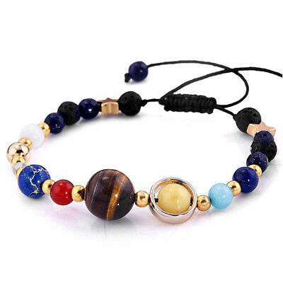 Eight Planets In The Solar System Fashion Jewelry Bangle Beads Bracelet Gift