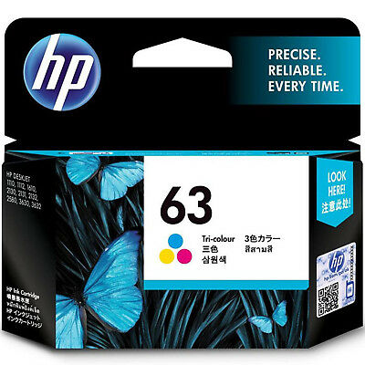 2018 / 2019 Genuine HP 63 Color F6U61AN Ink for ENVY 4520 All-in-One