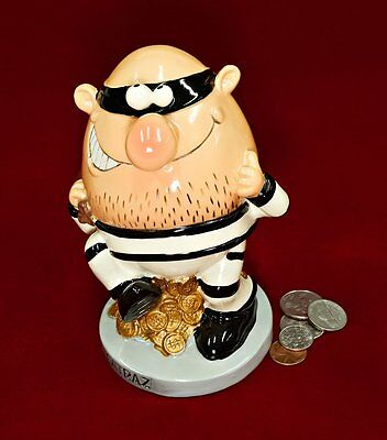"6.5"" Jail Break Burglar Coin Piggy Bank. Coins Money Bank"