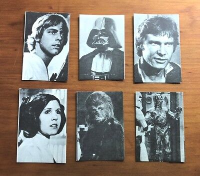 1978 Star Wars Vending Machine 'Bootleg' Stickers - Set of 6 - Extremely Rare NM