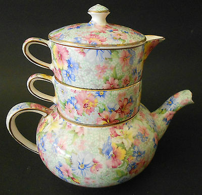 Royal Winton Grimwades Marion Mini Teapot & Stacking Set Tea For One Pt 324 1951