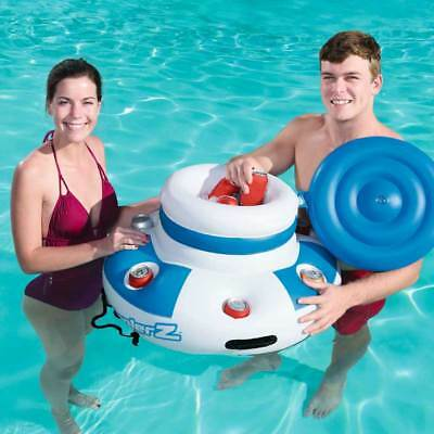 Bestway 70cm Floating Cooler With Cup Holders Pool Float Swimming Water Ice Box