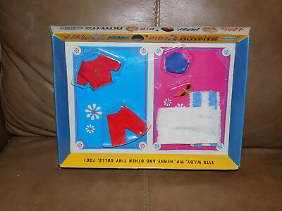 Hildy Herby'n Pip Pocketbook Doll Sealed on card Outfits 1967