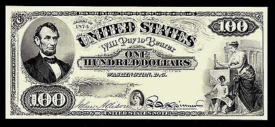 Proof Print or Intaglio Impression by BEP - Face of 1874 $100 United States Note