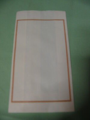 Cake Bags x 40 New Unused White with Gold Border - Wedding - Special Occasions