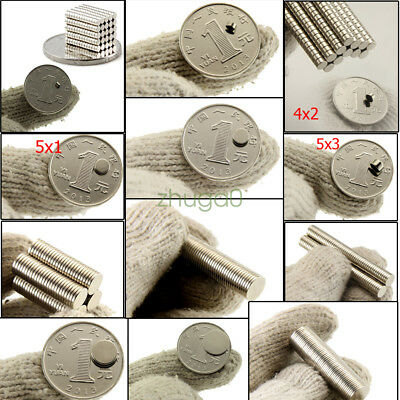 Tiny Neodymium Disc Magnets 2mm 3mm 4mm 5mm 6mm N50 Small Strong Craft