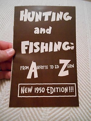 Hunting and Fishing from Airflyte to Ed Zern 1950 Edition, Nash Motors Michigan