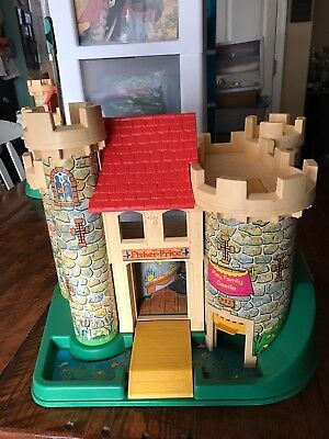 Vintage 1974 Fisher Price Little People Play Family Castle #993  *CASTLE ONLY*