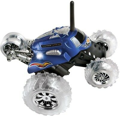 Thunder Tumbler Spinning Stunt Vehicle LED Lights Wireless Remote Control Blue