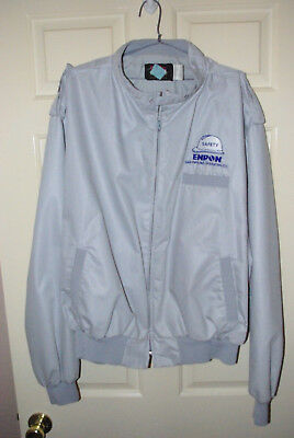 HTF BOTH ENRON Lined Silver JACKET XXL & ADUSTABLE CAP  - MEASUREMENTS  GIVEN