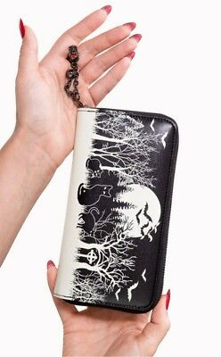 Banned Apparel Gothic Goth Occult Woodland Black Wallet Womens