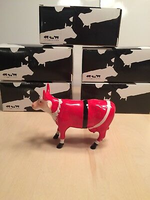 Cow Parade Santa Cow Figurine 2002 #9208 Retired with Box MIB