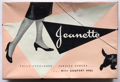 ** VINTAGE ** JEANETTE PURE SILK STOCKINGS ~ SEALED ~ IN ORIGINAL BOX - Size 8.5