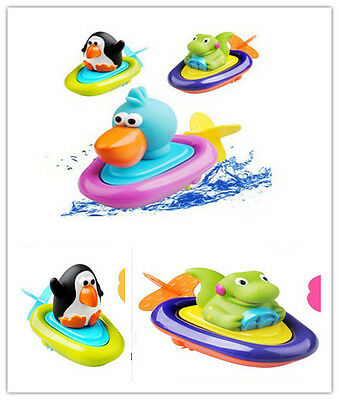 Pull and Go Boat Bathtime Baby Bath Toy Water Developmental Gator Boat V88