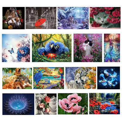 DIY 5D Diamond Painting Flower Animal Embroidery Cross Crafts Stitch Home Decor