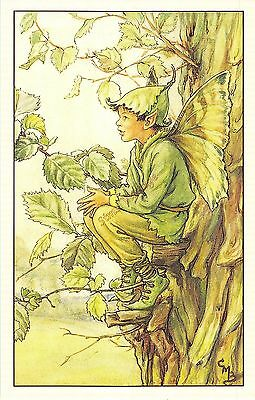 Flower Faires Postcard Cicley Mary Barker The Elm Fairy Lot1