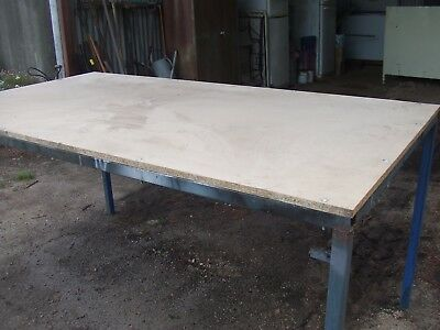 Large Industrial Steel Bench