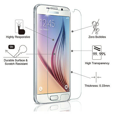 Samsung Galaxy S6 Tempered glass Screen Protector Premium Protection