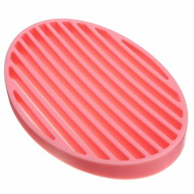T8 Silicone Home Bathroom Flexible Soap Dish Plate Soap Holder Soapbox red