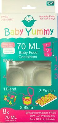 Baby Yummy Cubes 8 x 70ml