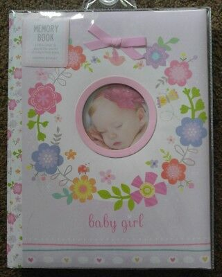 New C.R. Gibson Baby Girl Flowers Baby's First Memory Record Book Pink Five Year
