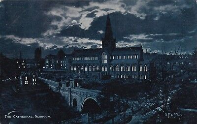 Postcard The Cathedral Glasgow Hold To Light D F & Co York / P & W M Vello